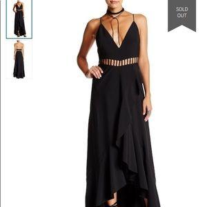 NEW Free People Jet Stream Maxi Dress Black Size 0